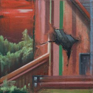 Home2, 40×40, 2018, Öl auf Leinwand