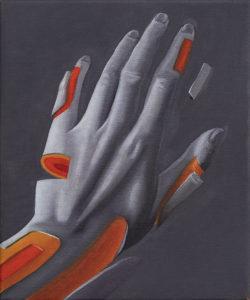 Hand1, 25×30, 2018, Öl auf Leinwand