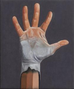 Hand2, 25×30, 2018, Öl auf Leinwand