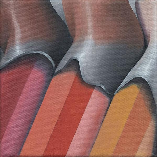 Trio, 20x20, 2018, Öl auf Leinwand