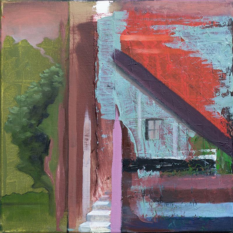 Home1, 40×40, 2018, Öl auf Leinwand