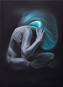 Tristesse, 70x50 cm, 2019, Öl auf Leinwand